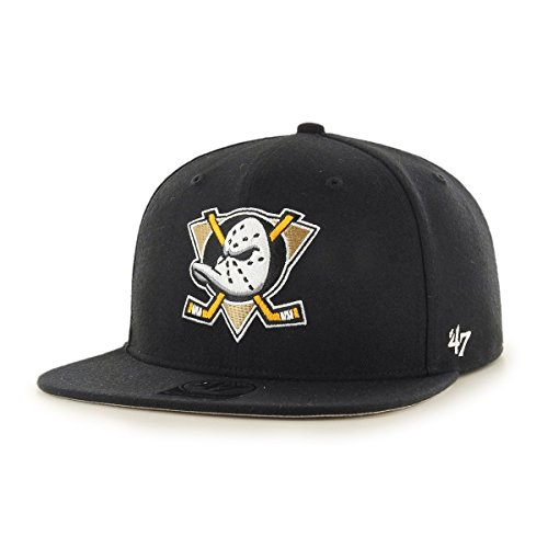 Brand Shot NHL Captain Snapback Anaheim No Gorra – Ducks Negro '47 T671x