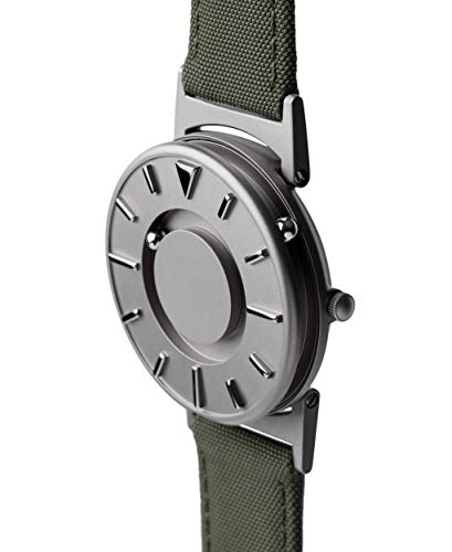EONE Bradley Canvas Olive Green Quartz Titanium Watch