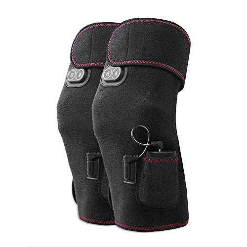 Massage equipment Vibration Massage Heated Knee Brace Wrap Support Electric...