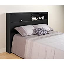 Prepac Series 9 Designer Storage Headboard, Double/Queen, Black
