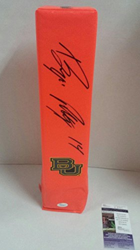 Bryce Petty Signed Touchdown Pylon Baylor Bears Football Coa - JSA Certified - College Autographed Miscellaneous Items