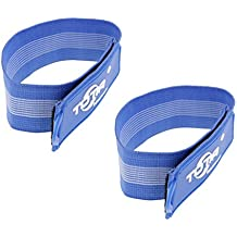 MagiDeal 2 Pieces High Visibility Reflective Ankle Strap - Road ID Ankle Bands - Perfect for Runners, Walkers, Cyclists and as Bike Pant Leg Straps