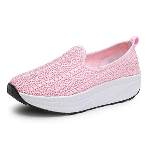 Aumento Lace New Zapatos Summer Zapatos Sacudida Fall Lazy Shoes Mujer Altura Casuales de Breathable 2018 Zapatos Do Fitness de de 4pzS6q