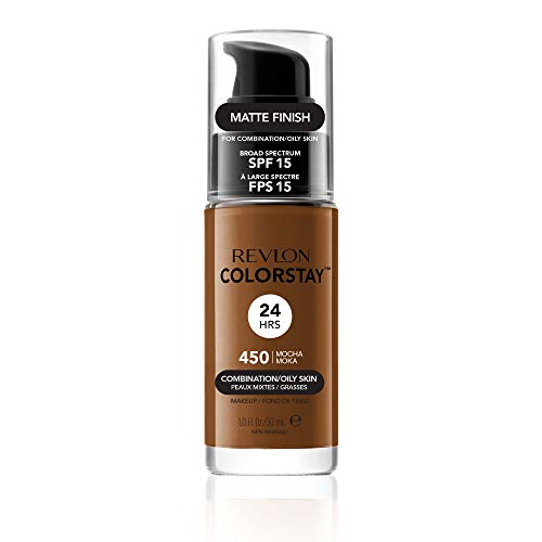 Revlon ColorStay Liquid Foundation For Combination/oily Skin, SPF 15 Mocha, 1 Fl Oz