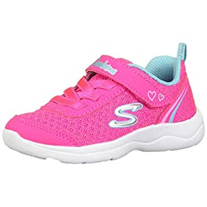 Skechers Baby Girl's Skech-Stepz 2.0-Sparkle Train HOT Pink/Turquoise First Walking Shoes-18-24 Months (24 EU) (82120N-HPTQ-8)