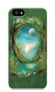 Moon Tree Fantasy PC Case Cover for iPhone 5 and iPhone 5s 3D