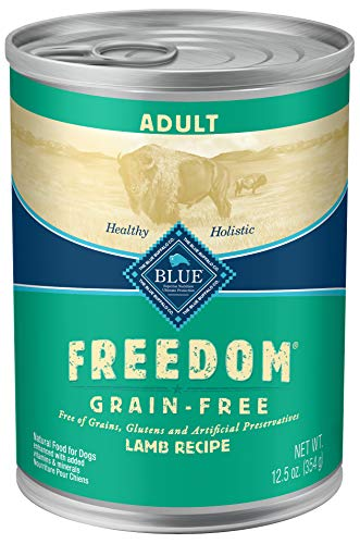 BLUE Freedom Adult Grain-Free Lamb  Wet Dog Food...