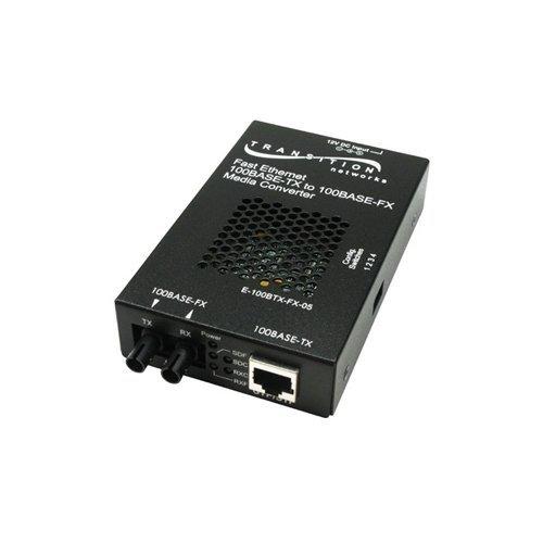 TRANSITION NETWORKS E-100BTX-FX-05(SM) Fast Ethernet Media Converter / E-100BTX-FX-05(SM)NA /
