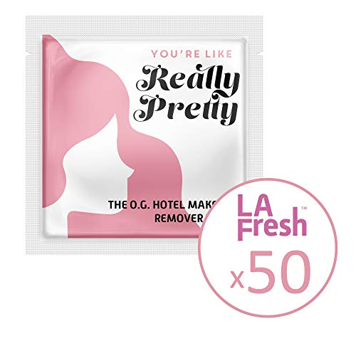 La Fresh Makeup Remover Cleansing Travel Wipes Natural, Biodegradable, Waterproof, Facial Towelettes...