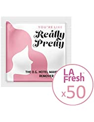 La Fresh Travel Lite Makeup Remover Cleansing Travel Wipes – Natural & Biodegradable Wipes, for Waterproof Makeup, Vitamin E – Individually Sealed Packets (50 Count)