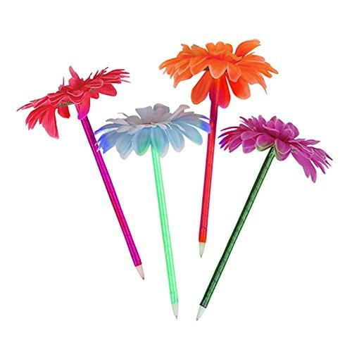 "EOM 8"" Assorted Color Daisy Pens Flower Ball Pen Flower Decor Ballpoint Pens, Great Promotion Gift (6 pcs ( half dozen )) -"