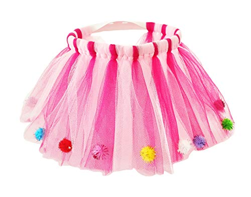 (PET SHOW Small Dogs Tutu Cat Birthday Wedding Party Tutu Skirt Dress Costume Outfit Pink for Girls Female (L Waist)