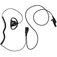 Maxtop AEH0407D-M7 D-Sharp Earhanger PTT for Motorola MTS-2000 XTS-1500 XTS-2000 XTS-2500 XTS-3000 XTS-2500
