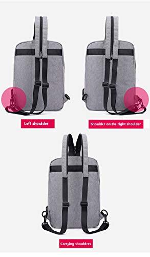 Amazon.com: BAG Mochila Exterior para Hombres/ropa Ligera Mochila de estudiante Mochila de Doble USO Mochila recargable USB-Grey: Home & Kitchen