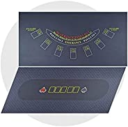 """WALIKEN Tabletop Professional Casino Felt for 2-Sided 36""""x72"""" Roulette and Craps Casino Tabletop Fel"""