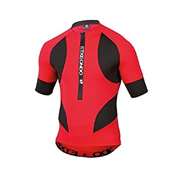 CYCLING JERSEY SHORT SLEEVE in Black Red ETXEONDO Trier TX