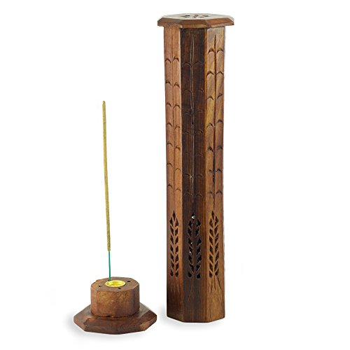 Incense Burner - Wooden Octagonal (Octagonal Tower)