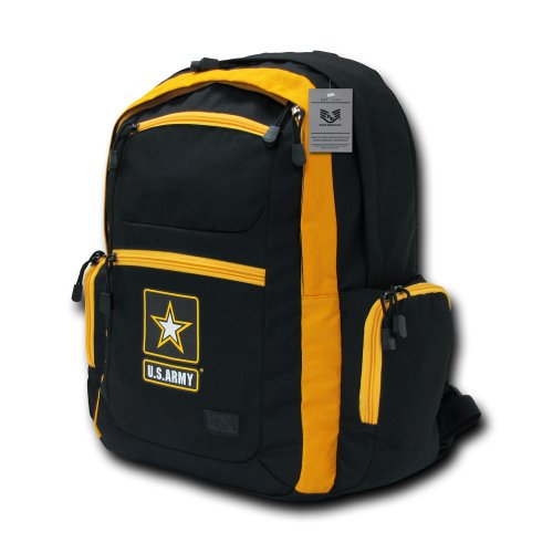 Rapiddominance Army Two Tone Backpack, Black/Gold by Rapid Dominance