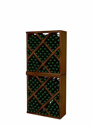 Vintner Series Wine Rack - Diamond Bin with Face Trim - 6 Ft - Premium Redwood with Dark Walnut ()