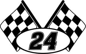 Amazon Com Checkered Flag Nascar Racing Number 24 Graphic