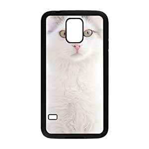 Beautiful Cute Cat Custom Cover Case with Hard Shell Protection for SamSung Galaxy S5 I9600 Case lxa#862292