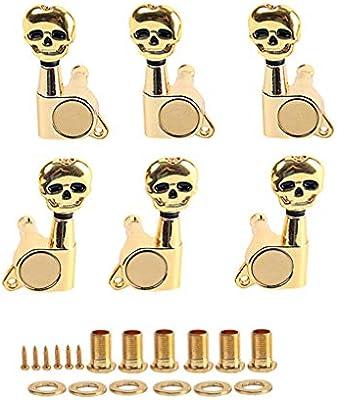 HEALLILY 1 set 3r3l clavijas de afinación de cuerdas de guitarra ...