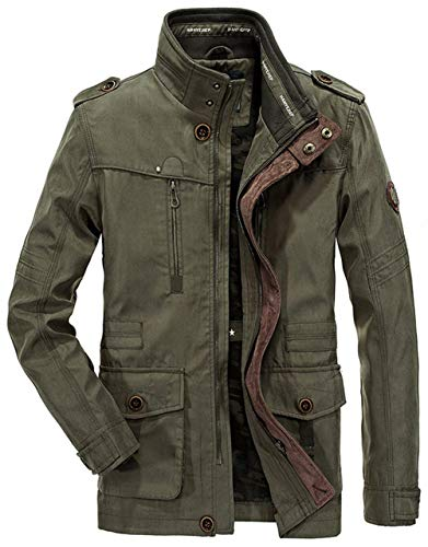 Pocket Mens Lungo Cotton Multi Casual Kaffee Cappotto Caccia Outdoor Tops Vintage Pure Capispalla Classic ExIqIwY1P