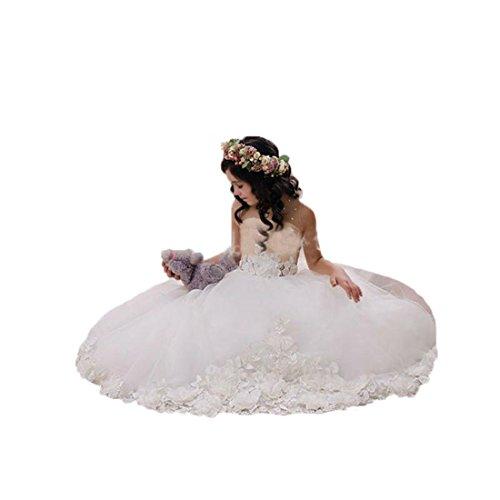 Graceprom 2018 Flower Girls Dresses For Kids Jewel Neckline First Communion Dresses 14
