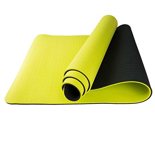 Tapis de yoga, Fitness Double-face Thicken Tapis antidérapant Allonger le mouvement Couverture de fitness ( Couleur : #2 , taille : 8mm )