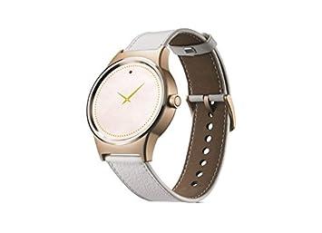 Alcatel TCL MOVETIME Smartwatch Oro con Lederbracelet Blanco: Amazon.es: Electrónica