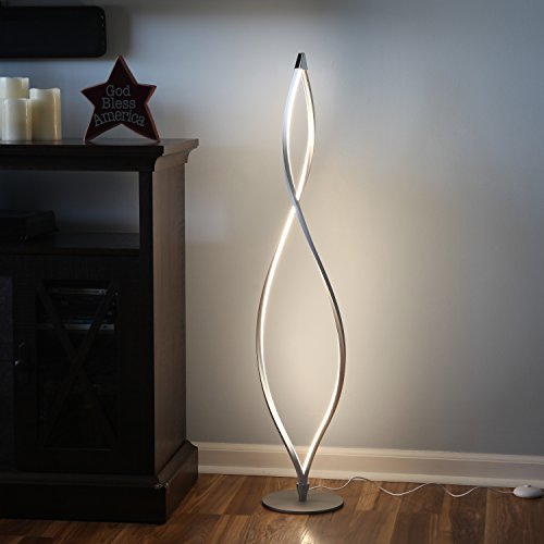 Modern twist led floor lamp 16 watt 2200 lumens 43 inches tall brightech modern twist led floor lamp 16 watt 2200 lumens 43 inches tall with 8 inch base mozeypictures Images