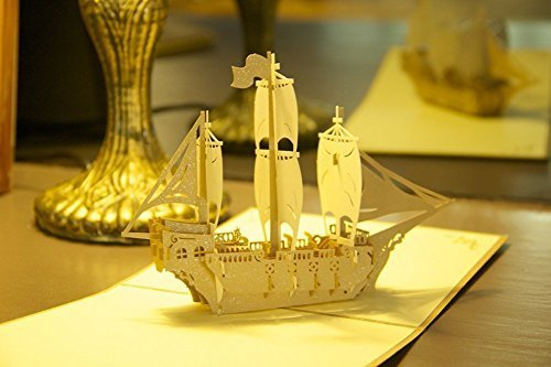 id-Birthday Cards None Papercraft Pop-Up 3D Greeting Cards Bon Voyage