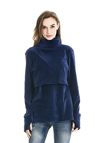 Bearsland Women's Nursing High Collar Maternity Nursing Swea
