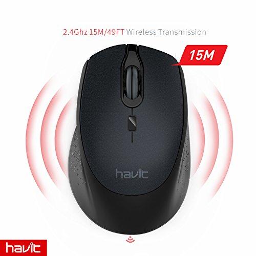 2.4G Wireless Mouse HAVIT 2000DPI Optical Mini ...