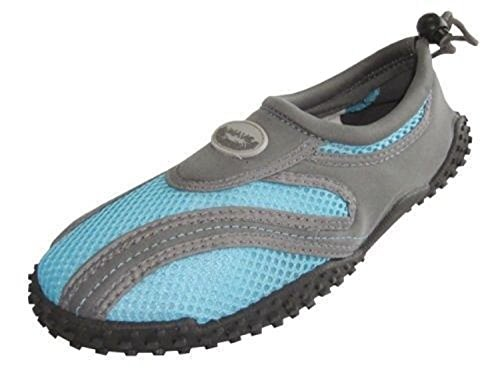Facile Womens Aqua Wave Water Shoes Calze Grigio / Blu