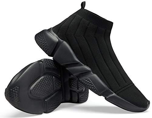 Santiro Women's Walking Athletic Shoes Breathable Knit Slip On Sneakers