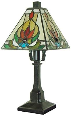 Fine Art Lighting Tiffany Table Lamp, 6 by 12-Inch, 136 Glass Cuts, Mini
