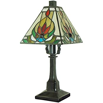 Fine Art Lighting Tiffany Table Lamp, 6 By 12 Inch, 136 Glass Cuts