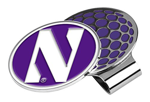 (LinksWalker NCAA Northwestern Wildcats Golf Hat Clip with Ball Marker)