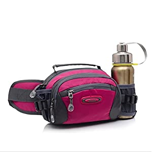Waist Pack, Water Resistance Nylon Pack Bag for Hiking Cycling Bottles Money iPhone