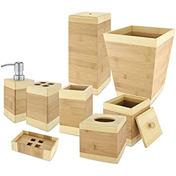 Amazon Com Seville Classics Piece Bamboo Bath And Vanity Luxury