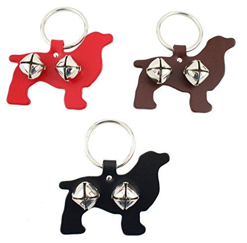 Leather Spaniel Bell Door Hanger - BLACK -