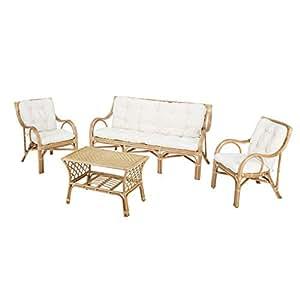 Rotin Design Rebajas : -38% Conjunto de Ratan salón Elim de ...