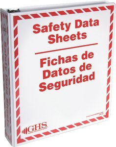 300 MSDS Sheet Capacity GHS SafetyEnglish/Spanish 1-1/2'' A-Z SDS Ring Binder