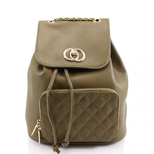 Craze London - Bolso mochila para mujer M Verde