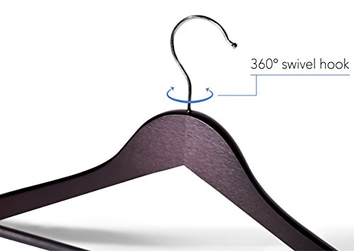 Topline Classic Wood Suit Hangers - 20 Pack (Cherry) by Topline (Image #2)