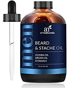 ArtNaturals Beard Oil and Conditioner - 2 Fl Oz - Pure and Natural Unscented - for Groomed Beard Growth, Mustache, Face and Skin