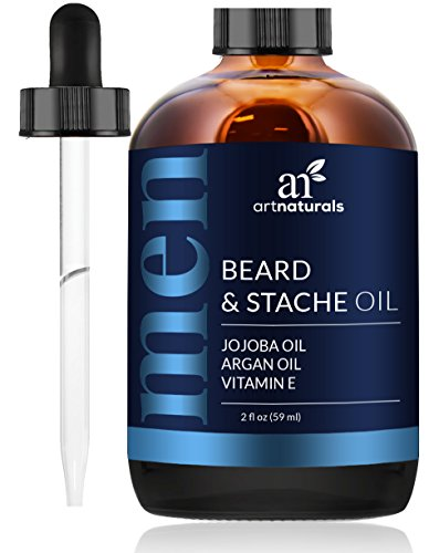 ArtNaturals Beard Oil and Conditioner - 2 Fl Oz - Pure and Natural Unscented - for Groomed Beard Growth, Mustache, Face and - Beard Face Style