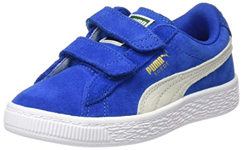 Puma Suede 2 Straps Ps, Zapatillas Unisex Niños Azul (Snorkel Blue-white)