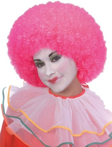 Rubie's Costume Neon Afro Clown Wig, Pin - Afro Fro Wig Shopping Results